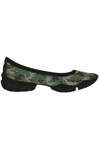 3Pro ballet flats in ultra-light in D.I.W.O.® with fleece lining and triple sole