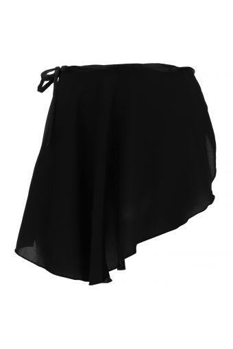 Falda corta de danza con nudo lateral