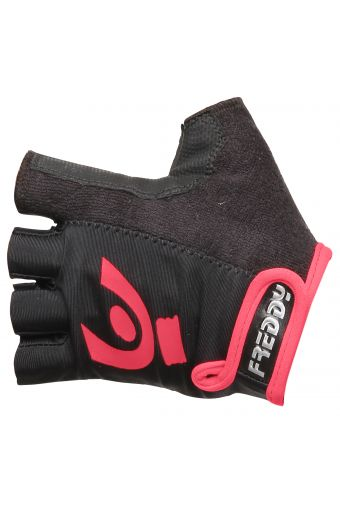 Fingerless fitness gloves in performance fabric
