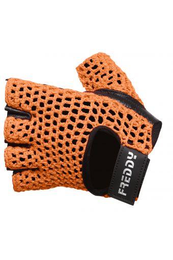 Trainingshandschuhe mit Handfläche aus Leder und Handrücken aus Mesh