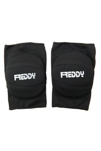 Knieschoner aus elastischem, gepolstertem Stoff mit Freddy-Aufdruck