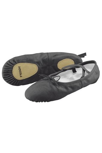 Ballet slippers in canvas