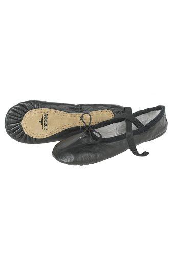 Ballet slippers in calfskin