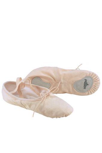 Ballet slippesr in stretch canvas