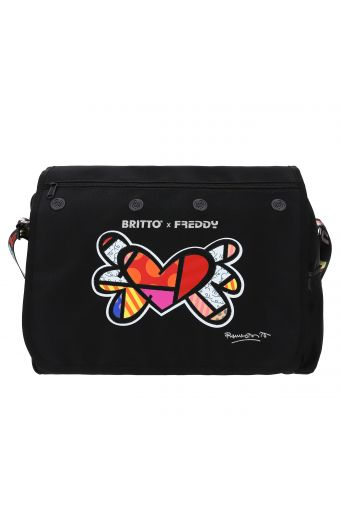 Nylon messenger bag - Romero Britto Collection