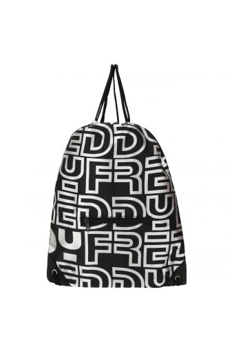 Packable duffel bag with a reflective print