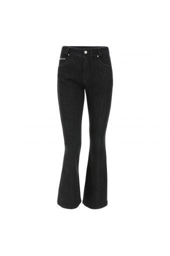 Cropped flare FREDDY BLACK jeans in stretch denim