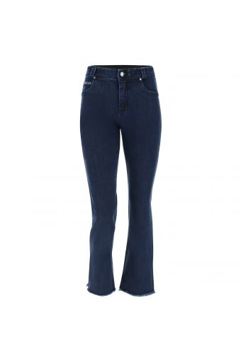 Denim FREDDY BLACK jeans with a cropped flare leg and frayed hem