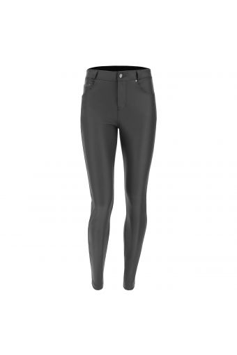 FREDDY BLACK trousers in faux leather performance fabric