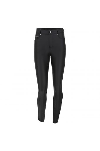 Faux leather FREDDY BACK trousers in cotton