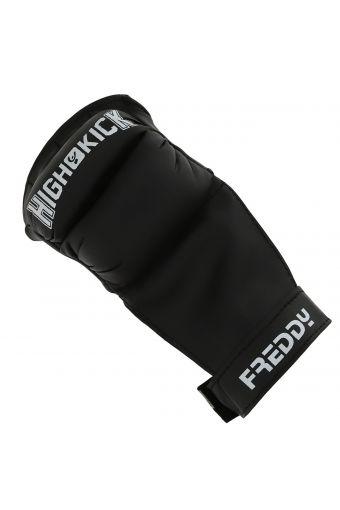 Protecciones de fit Boxe mujer con velcro y logotipo en contraste