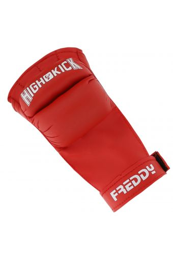 Gants de protection pour femme, pour le fit boxing, avec bande velcro et logo en contraste