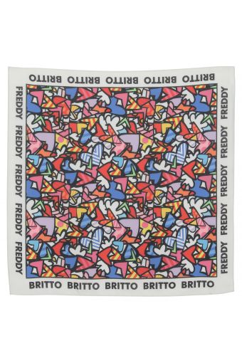 Scarf with winged hearts - Romero Britto Collection