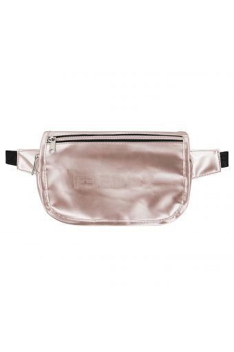 Metallic faux leather pouch with a flap