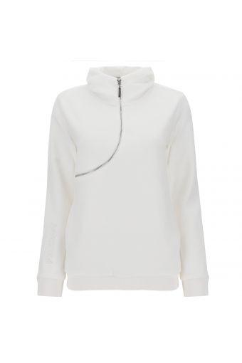 Jacke CURVE aus kurzhaarigem, weißem Fleece