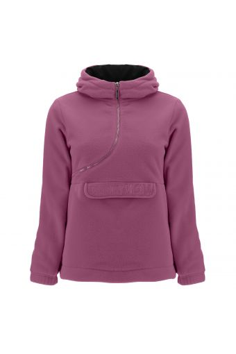 Comfort fit fleece CURVE jacket with a besom pocket