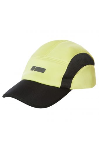 Cap in breathable D.I.W.O.® fabric with contrasting inserts