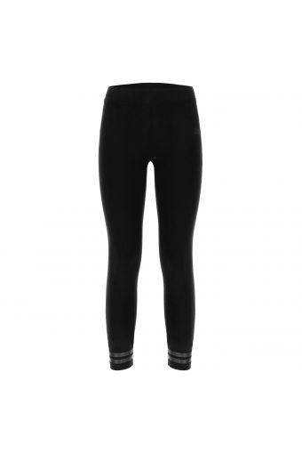 Girls' leggings with glitter bands at the ankles