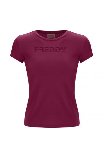 Camiseta de niña con logotipo FREDDY tono sobre tono
