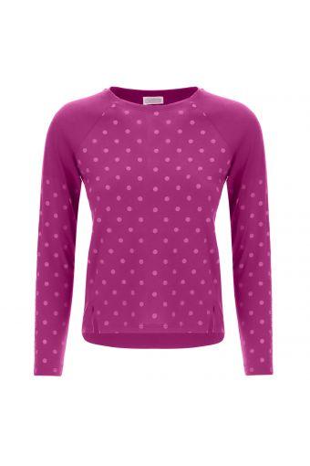 Girls' long sleeve polka dot t-shirt