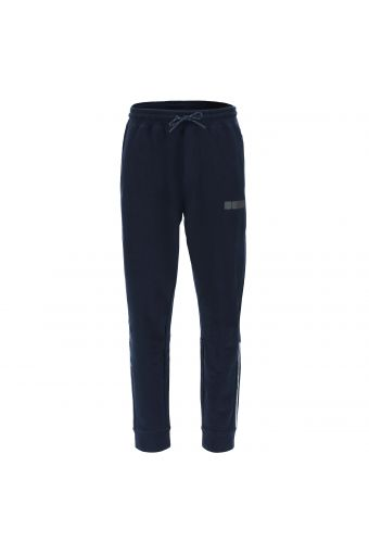 Stretch fleece trousers with reflective inserts