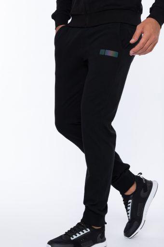 Pantalón deportivo de ajuste slim con cordón y bajo de puño