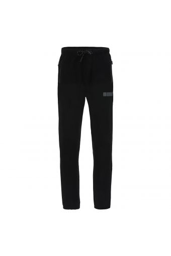 Pantalón deportivo de felpa elástica y bolsillos con cremallera