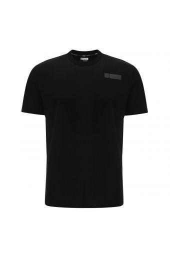 Camiseta básica elástica con estampado en el lateral trasero