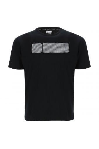 Camiseta de manga corta con maxi No Logo texturizado a rayas
