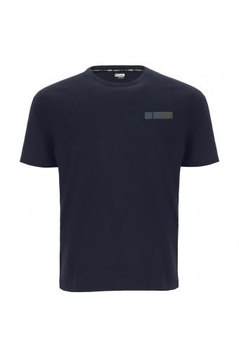 Camiseta de manga corta con estampado reflectante en la parte trasera