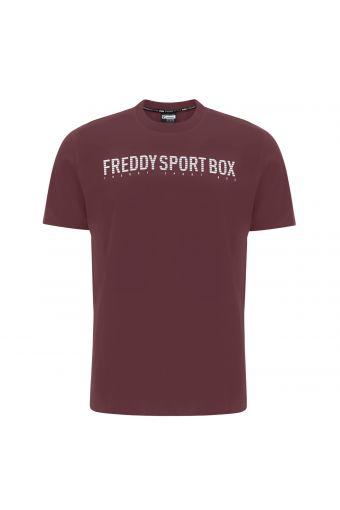 T-Shirt mit normaler Passform mit Aufdruck FREDDY SPORT BOX