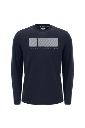 Long-sleeve t-shirt with a maxi No Logo print