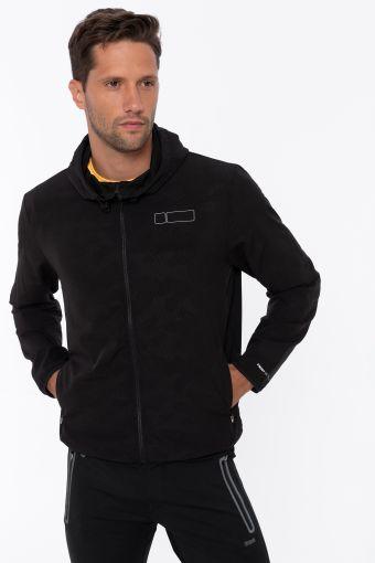 Tone-on-tone camouflage-effect performance jacket
