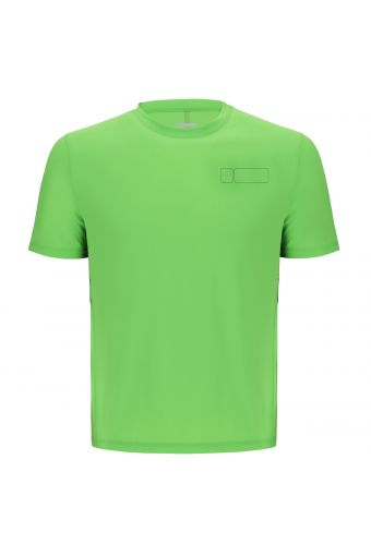 Performance fabric t-shirt with a reflective band on the back
