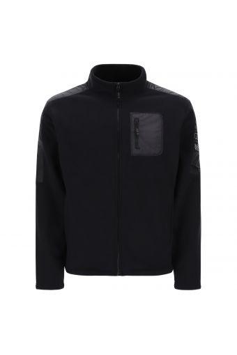 Jacke aus Fleece, Komfort-Passform mit Einsätzen aus Technostoff