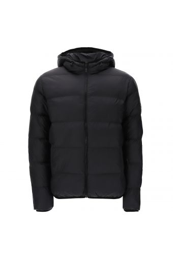 Winter jacket with a hood and water-repellent outer shell