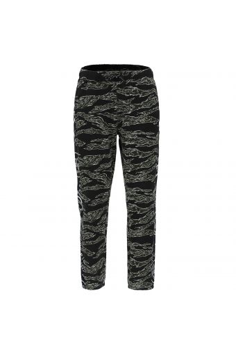 Athletic trousers with an all-over print and lateral panels