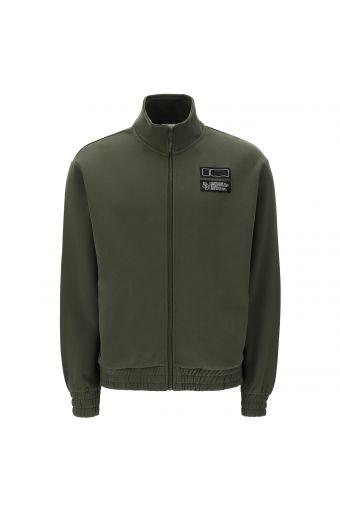 Sweatshirt mit hohem Kragen mit Reißverschluss und Passen-Aufdruck hinten