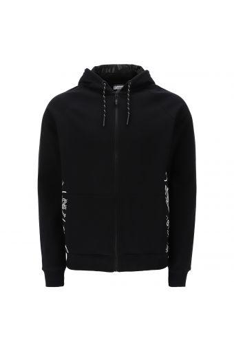 Sweatshirt mit Komfort-Passform, gedoppelter Kapuze und verzierten Seiten