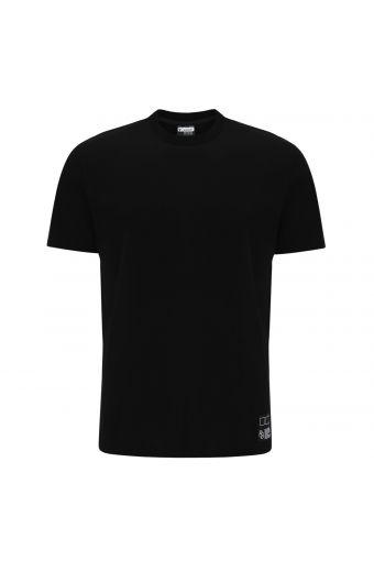 Camiseta de cuello redondo con estampado en la parte trasera