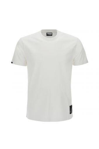 T-shirt col rond avec imprimé au dos