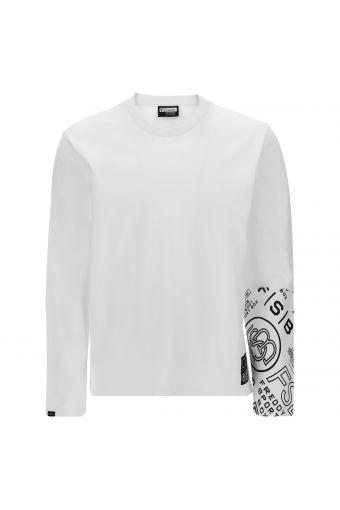 Camiseta de manga larga con inserción estampada