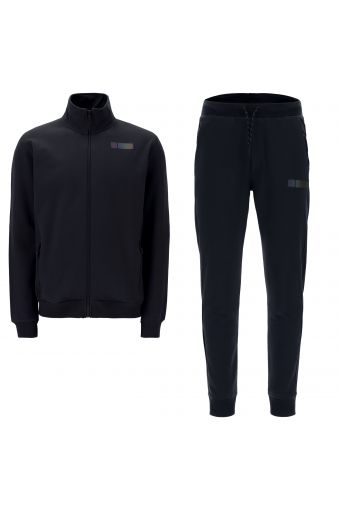 Men's track suit with a high neck and a reflective print
