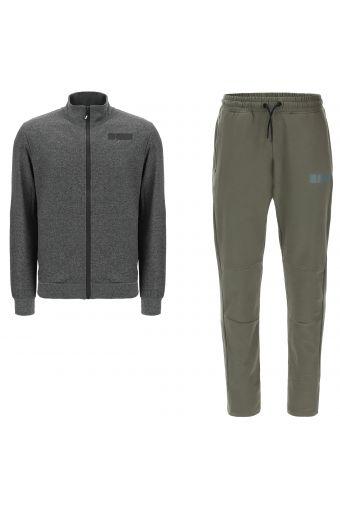 Survêtement avec sweat-shirt à fermeture éclair et pantalon fuselé
