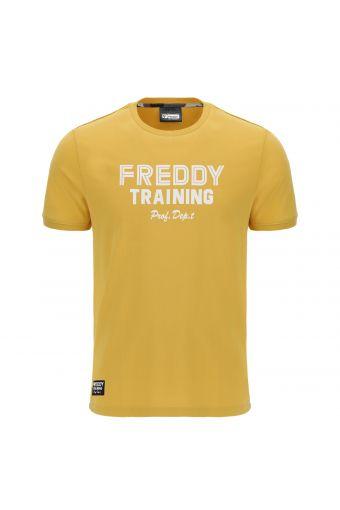 T-Shirt mit kurzem Arm und kontrastfarbenem Aufdruck