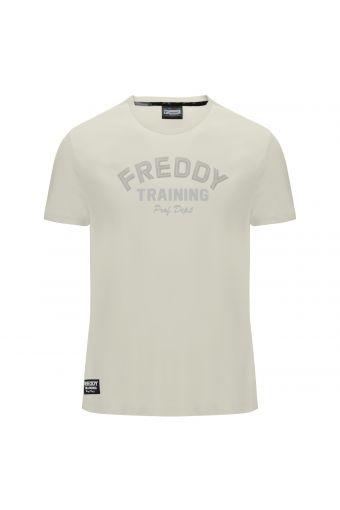 T-Shirt mit kurzem Arm mit Aufdruck in passendem Farbton