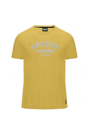 Camiseta de manga corta con estampado tono sobre tono