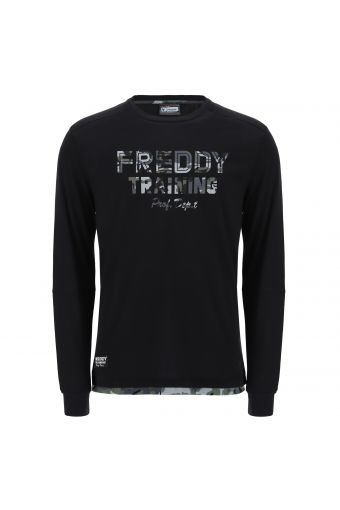 Long sleeve t-shirt with camouflage decorations