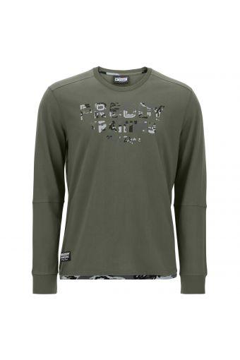 Langarm-T-Shirt mit Verzierungen im Camouflagemuster