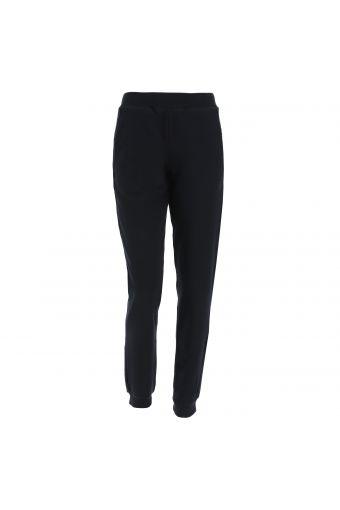 Sportliche Hose im minimalistischen Stil mit gerippter Taille und Saum